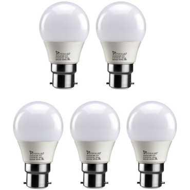 Syska 3W LED Bulb (White, Pack of 5) - White