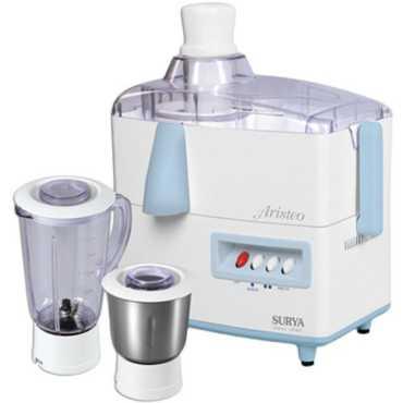 Surya Aristeo 450W Juicer Mixer Grinder - White