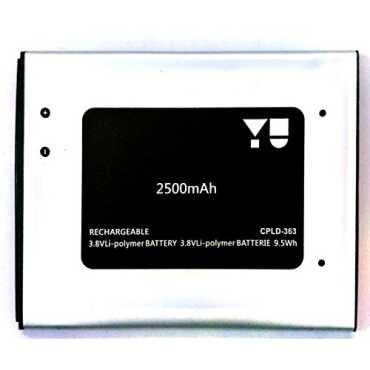 Micromax 2500mAh Battery (For Yu yureka) - Silver