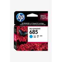 HP 685 Cyan Ink Cartridge - Blue