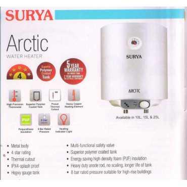 Surya Arctic 25L Storage Water Geyser - White