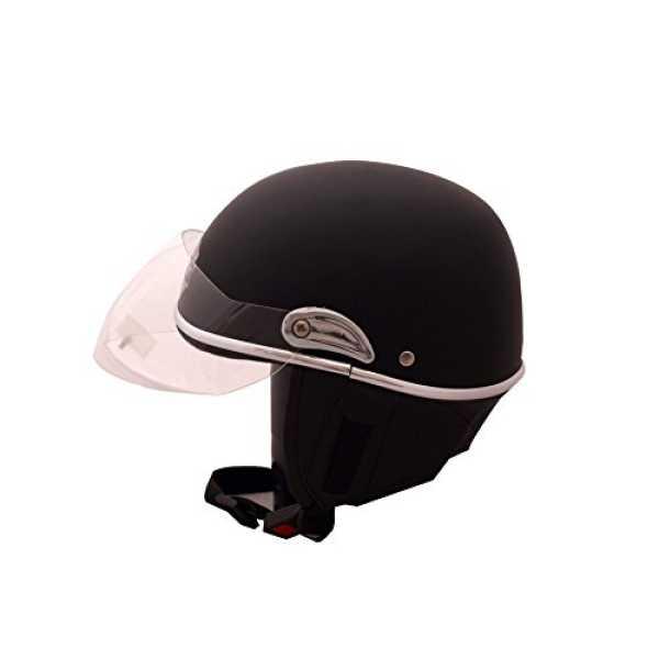 Autofurnish JR-601 Smart Rider Pillion Unisex Helmet Jupiter (Large) - Black