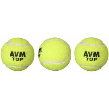 Avm Top Tennis Cricket Ball (Pack of 3) - Yellow