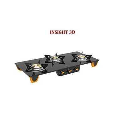 V-Guard Insight 3D Glass Gas Stove 3 Burner