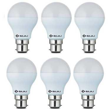 Bajaj 3W  B22 Round LED Bulb (White, Pack of 6) - White