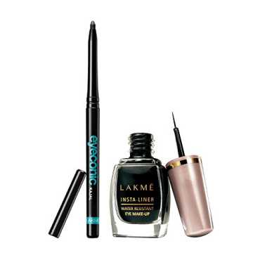 Lakme Eyeconic Kajal Black with Free Insta Eye Liner - Black