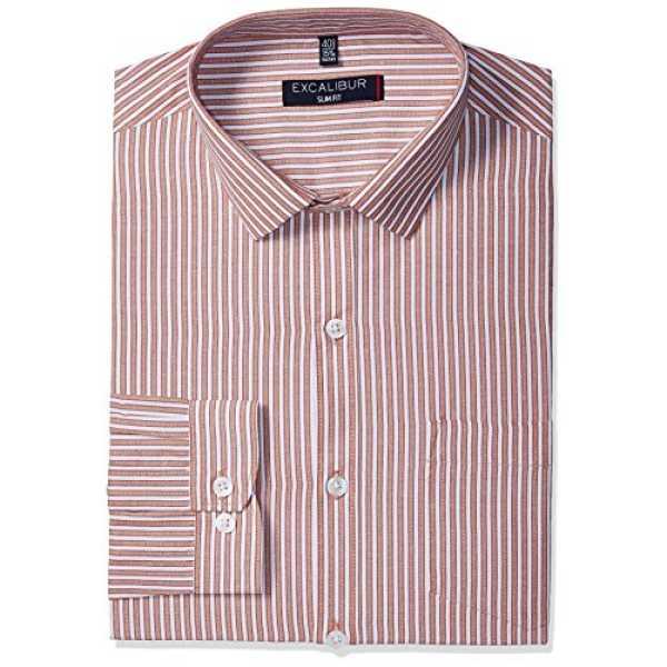 Men's Formal Shirt (8907542354238_270296526_39_Red)