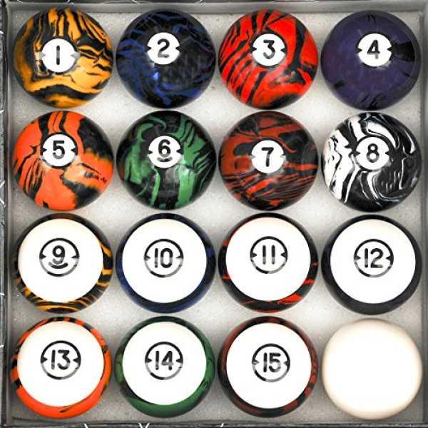 Iszy Billiards Dark Marble Classic Style Billiard Ball Set