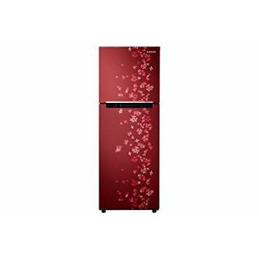 Samsung RT27JARZERY 253 Litres 4S Double Door Refrigerator (Sanganeri) - Red