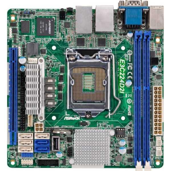 ASRock (E3C224D2I) Motherboard