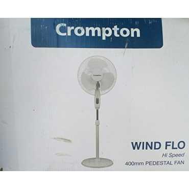 Crompton Greaves Windflo 3 Blade (400mm) Pedestal Fan - White