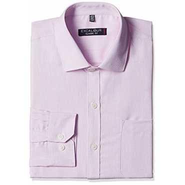 Excalibur Men's Formal Shirt (8907542610839_400016541687_39_Lt-Pink)