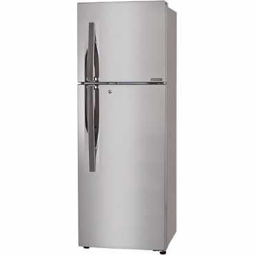 LG GL-F282RPZY 255L 3S Double-Door Refrigerator (Shiny Steel) - Silver   Steel
