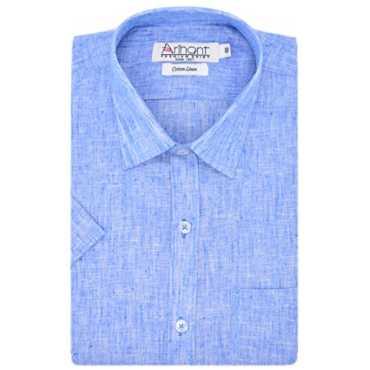 Arihant Men s Half Sleeves Plain Cotton Linen Regular fit Formal Shirt AR73980540