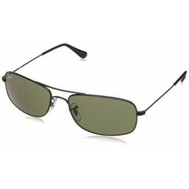 UV protected Oversized Men Sunglasses (0RB3335I00257|57 millimeters|Crystal Green)