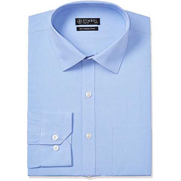Symbol Men's Formal Shirt (S17MBS043_42_Blue)