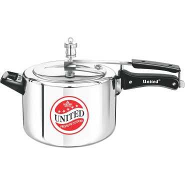United 1.5 L Aluminium Pressure Cooker (Inner Lid) - Silver