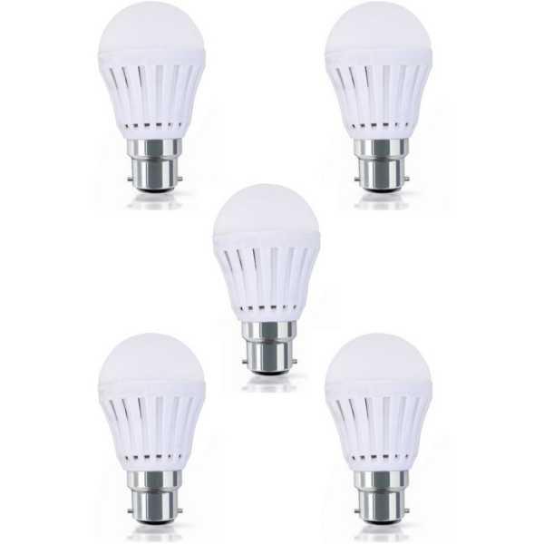 Digilight 12W B22 LED Bulb (White, Pack of 5)