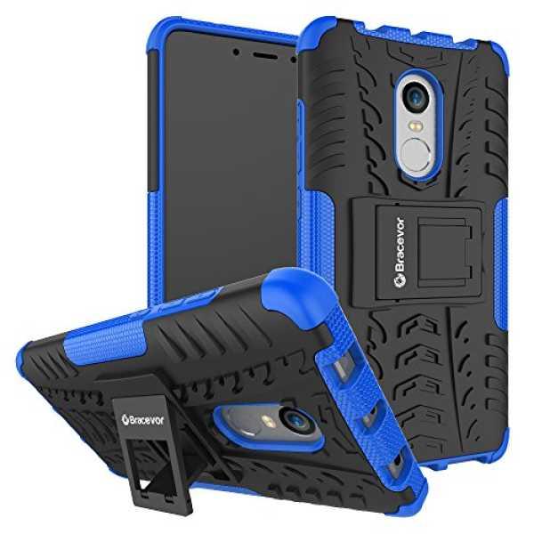 Shockproof Xiaomi Redmi Note 4 Hybrid Kickstand Back Case Defender Cover - Blue