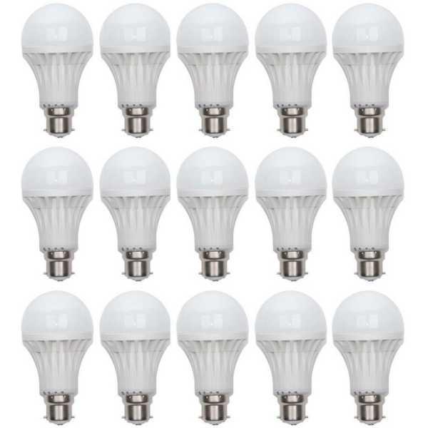 Digilight 11W B22 LED Bulb (Pack of 15) - White