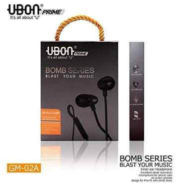 UBON Bomb Series GM-02 In the Ear Headset - Black | White