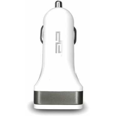 Digital Essentials Dual USB Port Car Charger - White