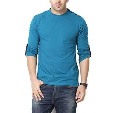 Turq Round T-Shirt Full Sleeves Round T-Shirts-GSFS60208TURQ-L