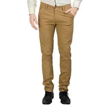 Men's Slim Fit Casual Trouser (171001--28, Brown, 28)