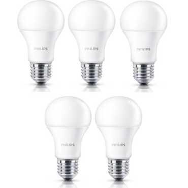 Philips Stellar Bright 12w Standard E27 1200L LED Bulb White Pack of 5