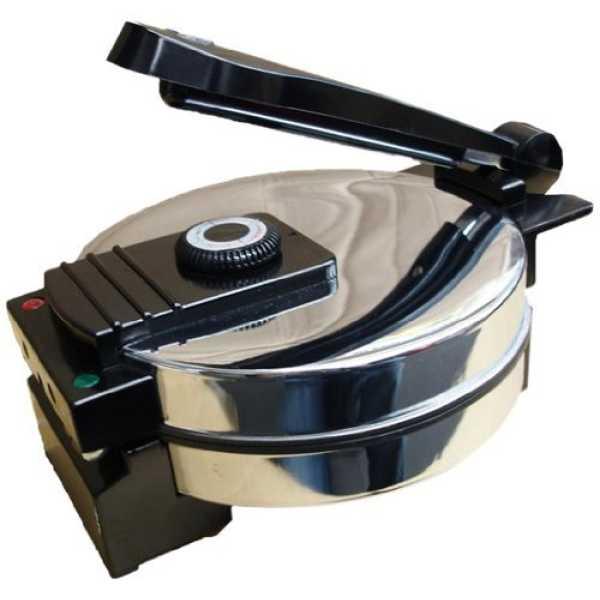 Saachi SA1650 Electric Non-Stick Roti Maker - Chrome