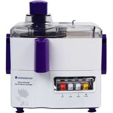 Wonderchef Nutri 750W Juicer Mixer Grinder - Purple | White