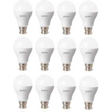 Surya B23D 12 W 1260Lumen LED Bulb (White, Pack of 10) - White