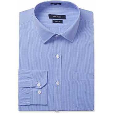 Mark Taylor Men's Formal Shirt (16110001492691_MTSH016797_42_Light Blue)