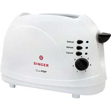 Singer Duo Pop 700W 2 Slice Popup Toaster - White