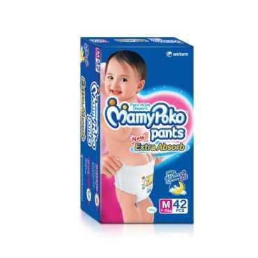 Mamy Poko Pants Extra Absorb Medium (42 Pieces) - Blue