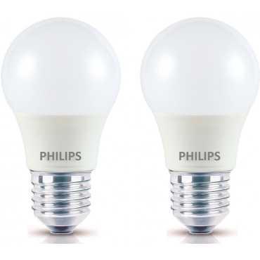 Philips Ace Saver 2.7W E27 230L Round LED Bulb (White, Pack of 2) - White