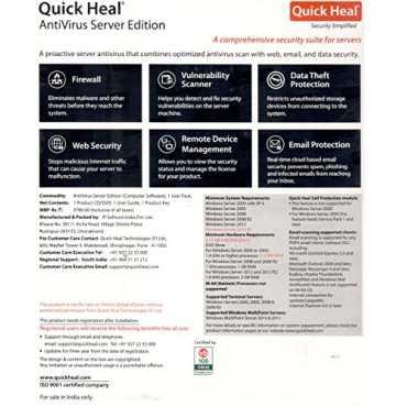 Quick Heal AntiVirus Server Edition 1 Server 1 Year