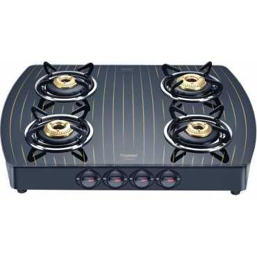 Prestige GTS 04 (D) Gold 4 Burner Glass Gas Cooktop