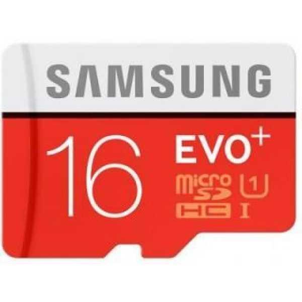 Samsung EVO Plus 16GB Class 10 MicroSDHC Memory Card