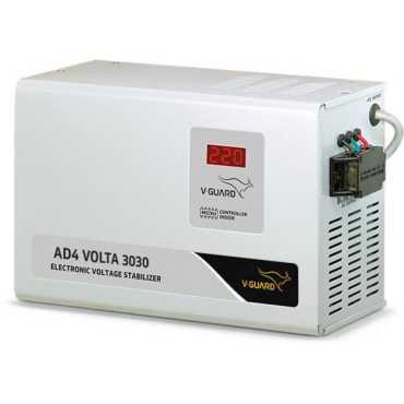 V-Guard AD4 Volta 3030 Voltage Stabilizer - Grey | White