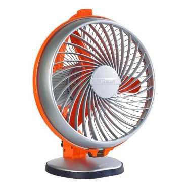 Luminous Buddy 3 Blade Table Fan - Blue | Orange | Brown | Red | Beige