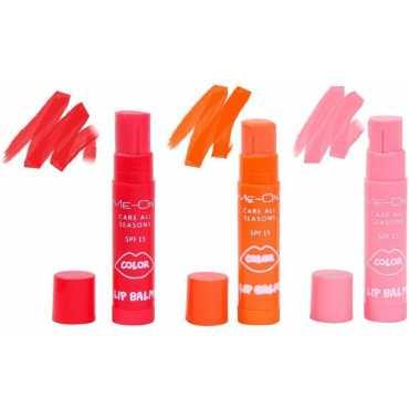 Me-On Colour Lip Balm Combo (Strawberry, Orange, Cherry) (Set of 3) - Orange