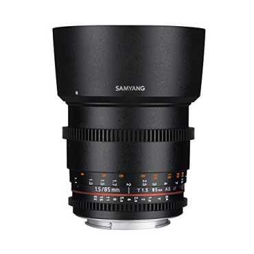Samyang 85mm T1.5 VDSLR II Manual Focus Lens (for Canon)