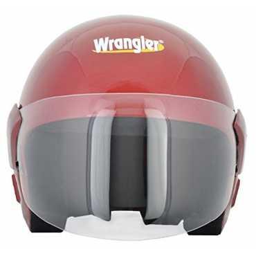 Wrangler Endeavor Open Face Helmet with Visor (Medium) - Red