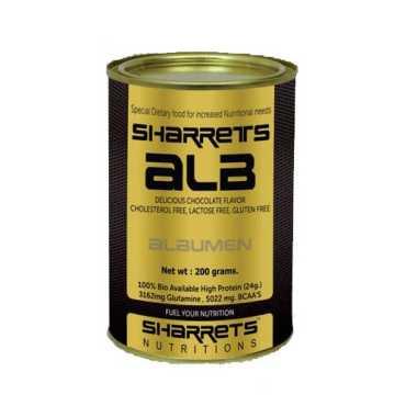 Sharrets Nutritions Alb Egg Albumen Powder (200 gm,Choco) - White