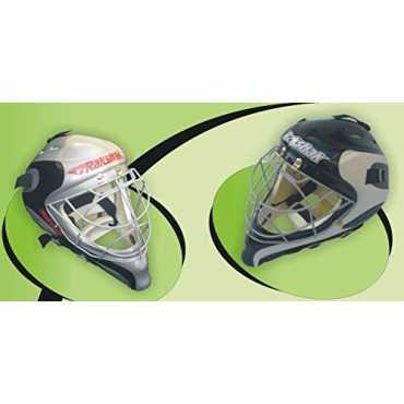 Rakshak Rebel Hockey Goal Keeper Helmet (Full Size) - Black-white