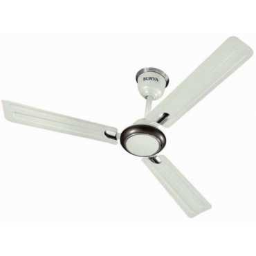 Surya Udan Plus 3 Blade (1200mm) Ceiling Fan - White   Brown