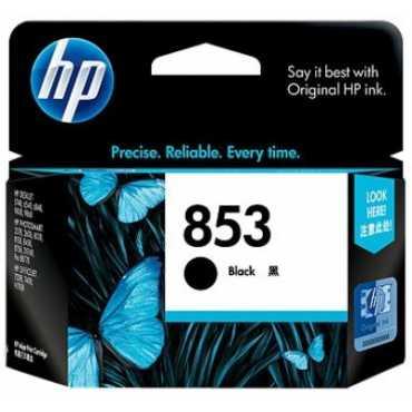 HP 853 Black Inkjet Print Cartridge - Black
