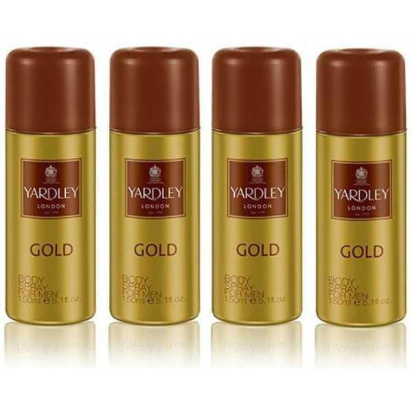 Yardley  London Gold Deo (For Boys, Men) (Set of 4)