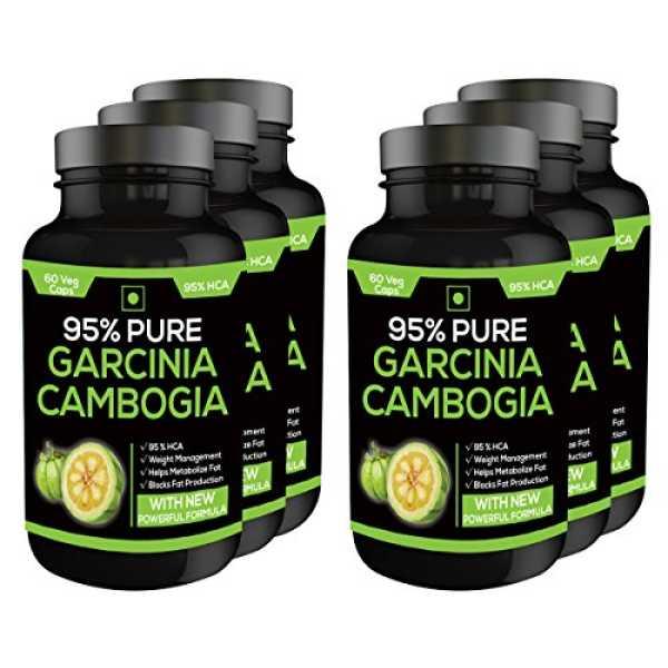 Perennial Lifesciences 95% Pure Garcinia Cambogia 800 mg Supplements (60 Capsules, Pack of 6)
